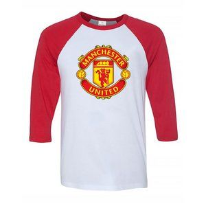 Youth Kids Manchester United Logo Baseball Tee